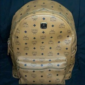 MCM Men's Stark Coated Canvas Monogram Backpack